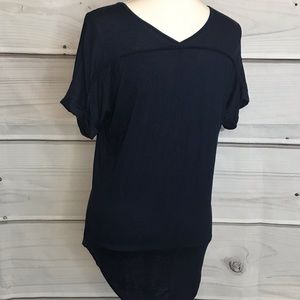 Active USA Tops - Active USA Basic Navy Blue Tee